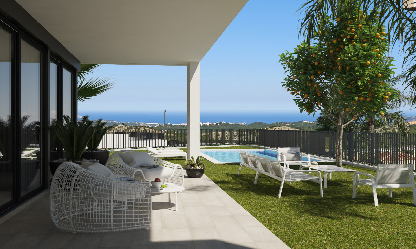 New modern detached villa with stunning views at unbeatable prices.